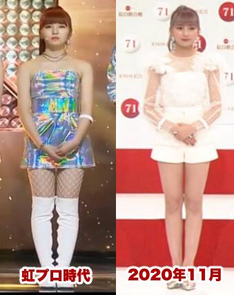 マユカは痩せてスタイルが良くなった